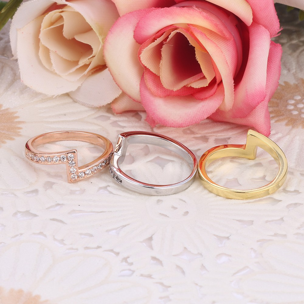 Vintage Letter Z Ring Set Half Micro Pave Setting Engagement Rings ...