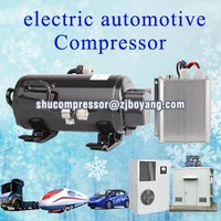 Electric car air conditioning with BLDC 12/24/48/72Volt Kompressor for Locomotives Wagons Trams Suburb trains and other rail