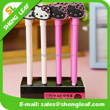 Personalized rubber cat shape ballpoint pen