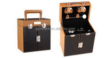 Popular exported attractive pvc leather wine hanger box
