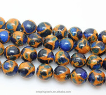 8mm Nepal Cloisonne Crystal Natural blue golden gemstone wholesale gemstone beads