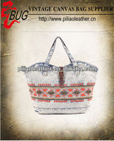 Embroidery logo fashion cheap denim tote bag wholesale in China
