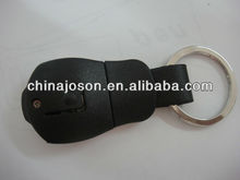 reflective custom made leather and metal keyrings rings red
