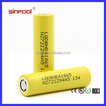 Factory Price!Sinpool LGDBHE4 18650 Battery Lg he4 18650 2500mah for rechargeable 12v dc battery pack