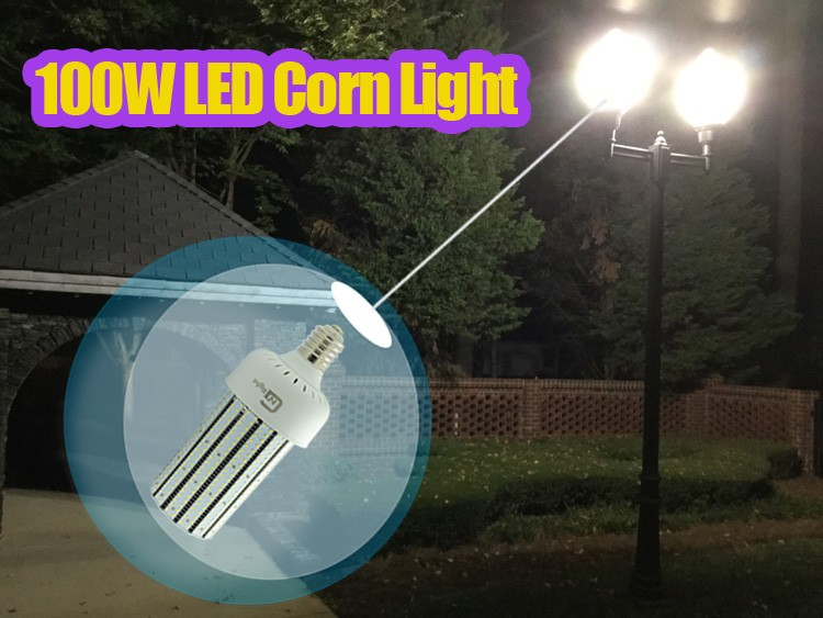 277v 100w led corn lamp capsulated replacement 400w mh. Black Bedroom Furniture Sets. Home Design Ideas