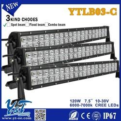 Y&T120W 2 row car led 40 x 3w offroad off road 4x4 Led Light Bar
