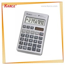 10/12 Digits Dual Power Plastic Key Handheld Calculator
