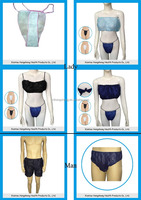 disposable bra panty, ladies sexy panty and bra sets, disposable nonwoven bra panty