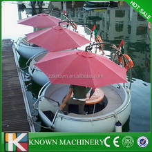 Low price factory direcly sell leisure boating for BBQ,BBQ boat, BBQ donut boat