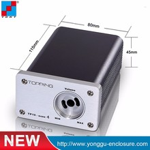 Competitive price 80*45-115mm boutique amp amplifier brushed aluminum case aluminum oxide split