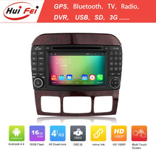 Huifei Quad Core Android 4.4 Capacitive 1024*600 Mirror Link Obd In Car Entertainment For Mercedes Benz W220 Car Radio