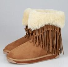 Elegant Tassel Design Australia Fur Boots; Woman Winter Boot 2015