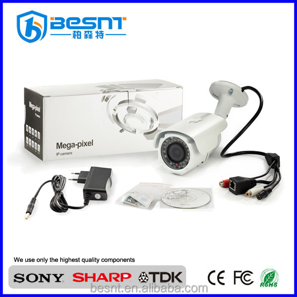 Date IP caméra besnt 1080 P IR 30 M 2.0 Mégapixels IP Caméra extérieure 2.8-12mm lentille BS-IP32L
