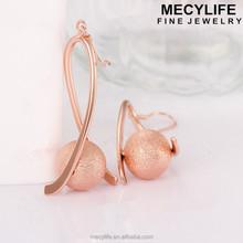 MECY LIFE 2015 wholesale high end fashion drop gold basket earrings