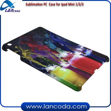 plastic 3d sublimation mobile cover for ipad 1/2/3,sublimation phone case,3d sublimation phone cover