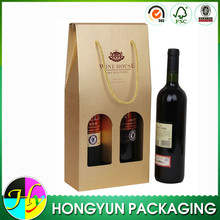 custom corrugated paper wine bottle packaging