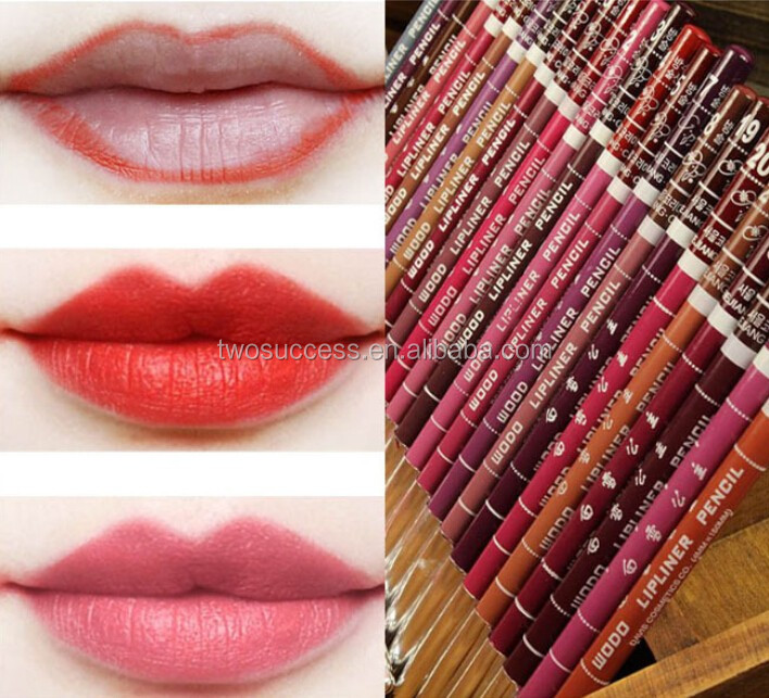 Women's Professional Lipliner Waterproof Lip Liner Pencil 12 Colors Per Set Hot 2015