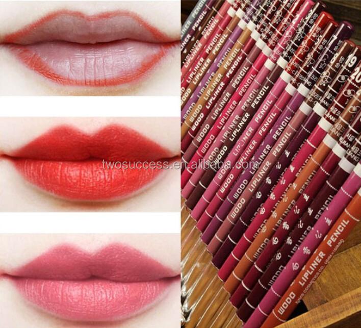 Women's Professional Lipliner Waterproof Lip Liner Pencil 12 Colors Per Set Hot 2015