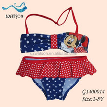 Lovely Mickey Children Swimwear/Girl Bikini/ Sexy Skirt Bikini