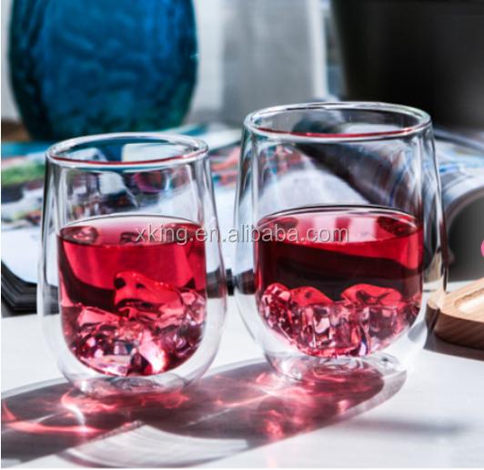 pyrex verre double paroi tumbler verre tasse de th avec la fda exportation vers le japon tasses. Black Bedroom Furniture Sets. Home Design Ideas