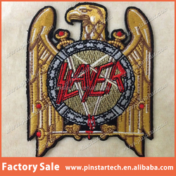 China Supplier Wholesale Custom SLAYER ROCK BAND HEAVY METAL LOGO MUSIC SEW EMBROIDERY IRON ON PATCH BADGE