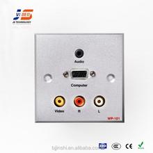 JS-WP101 RCA+VGA+3.5mm AudioAluminum Wall Socket