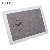 china home decor batterie operated cloth dial design wooden stand desk clock