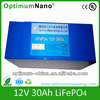 12v 30ah LiFePO4 battery pack for golf trolley and golf cart