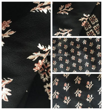 100 polyester printed moss crepe fabric