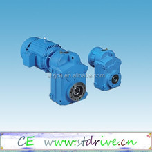 ST Drive Brand F series parallel shaft solid shaft helical speed reducer