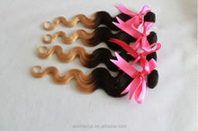 Aliexpress Peruvian body wave ombre color hair 5A grade virgin cheap human hair weft