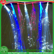led colorful flashing blinking fiber hair braid for Party