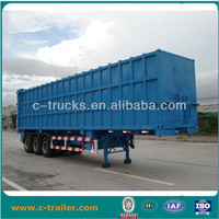 3 axle heavy duty truck china van type semi trailer
