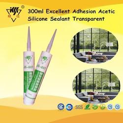 300ml Excellent Adhesion Acetic Silicone Sealant Transparent
