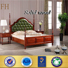 FH BEST price modern designs double teak solid wood bed