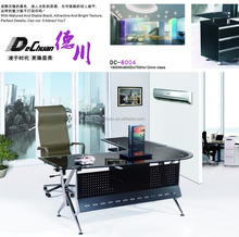 2015 hot office glas table modern design of glass office table executive metal office desk