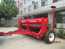 Hot sale 24 rows trailed type grain seeder, seed drill, wheat, barley, grass, rice seed drill with hydraulical marker