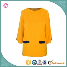 2015 Girls' New Fashion O-Neck Design Orange and Other Colors Blouses