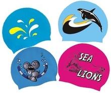 Cool silicone swimming caps/Unique silicone swimming caps