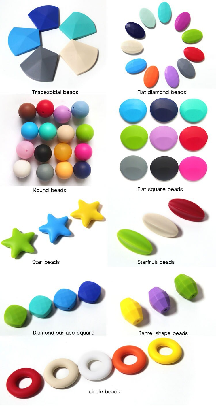 2015 Multi Color BPA Free Food Grade Silicone Beads