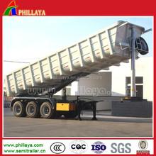 2015 3 axles heavy duty tractor tipper trailer/rear tipper