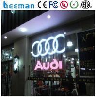 Leeman led screen p10 full color outdoor led screen round glass led panel light