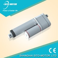 24v 400mm waterproof dc electric linear push pull solenoid actuator