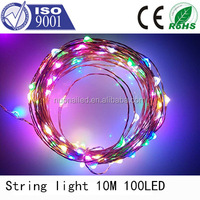 CE ROHS approved 10m 100leds low voltage 9color outdoor waterproof led christmas string light led permanent