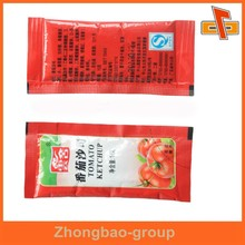 food grade aseptic 3 side seal plastic tomato ketchup sachet 10g with printing