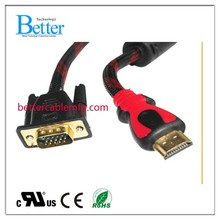 VGA to Mini HDMi 1080P, VGA male to Mini HDMI Male HD Video Cable Converter Adapter