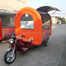 Europe standard mobile fast food vending van, food vending cart for sale, mobile food trailer caravan trailer