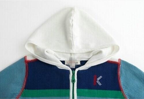 Скидки на Французский дизайнер дети хлопок закрытый воротник пальто, Верхний - мальчики марка осень и зима куртки