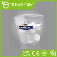 Colorful printed clear wine glass packing box in cheap price