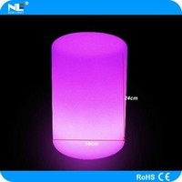 High brightness party/garden/bar/home waterproof colorful rechargable led lighting lamp/led cylinder lamp for decoration